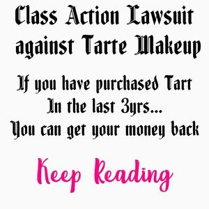 tarte Makeup - Tarte makeup refund notice